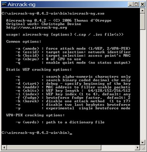 aircrack ng aircrack ng wep and wpa psk key cracking program
