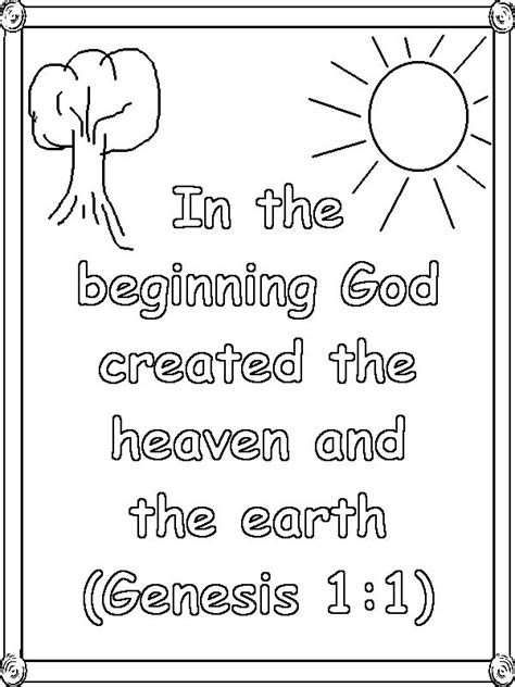 creation coloring pages preschool genesis 1 verse 1 coloring page homeschool preschool