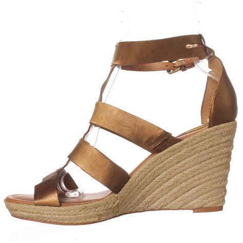 fossil sandals fossil serena espadrille sandal in metallic lyst