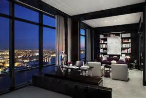 striking penthouse adorning the 77th floor of the trump world tower freshome com