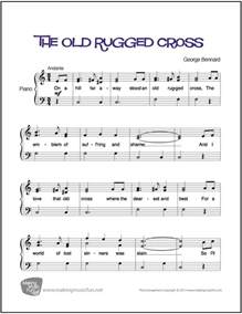 how to play rugged cross on piano the rugged cross easy piano sheet digital print