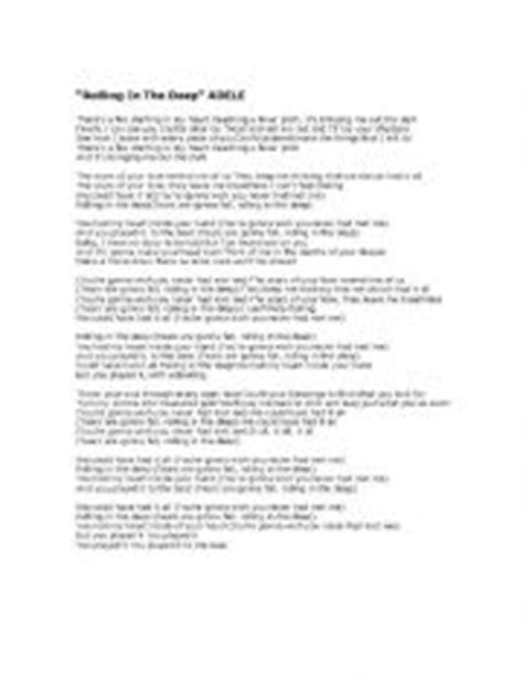 printable lyrics rolling in the deep english teaching worksheets rolling in the deep