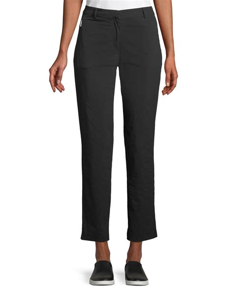 anatomie thea straight leg ankle length pants  side zip pockets neiman marcus