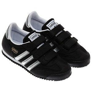 adidas g95075 cf boys black athletic casual shoes sneakers velcro ebay