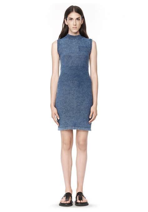 sleeveless dress acid washed indigo sleeveless dress short dress