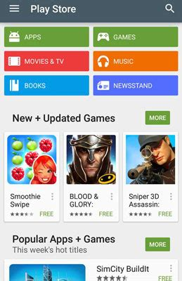 Play Store Home Screen How To Get To The Store On Your Galaxy S6 Dummies