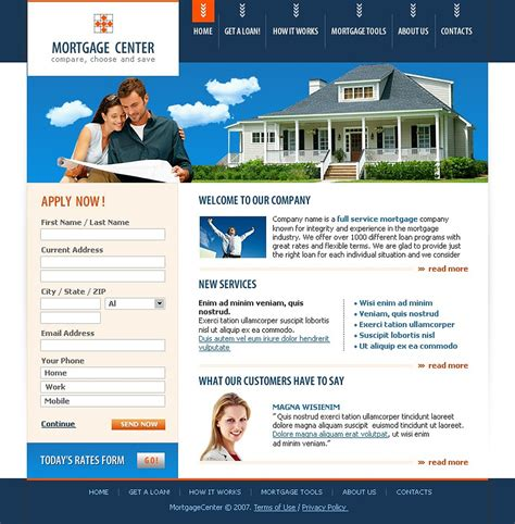 Mortgage Website Template Web Design Templates Website Templates Download Mortgage Website Free Mortgage Website Templates