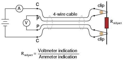 dropping resistor function kelvin 4 wire resistance measurement dc metering circuits electronics textbook