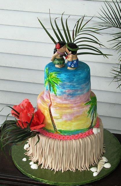 luau wedding cakes pictures 132 best images about cake wedding hawaiian tropical exles on sugar flowers