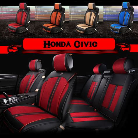 upholstery car seats z16b8 for honda civic car seat covers zebra pu leather