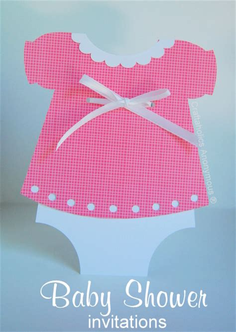 Pink Dress Baby Shower Invitations by Craftaholics Anonymous 174 Handmade Baby Shower Invitations