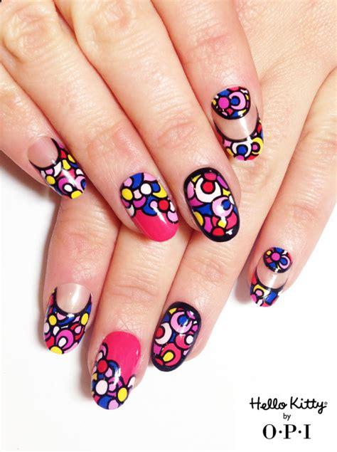 nail art tutorial hello kitty french tips hello kitty nails on tumblr