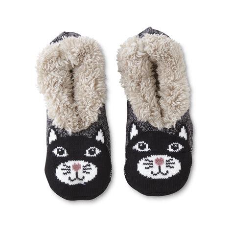 cat sock slippers joe boxer s slipper socks cat