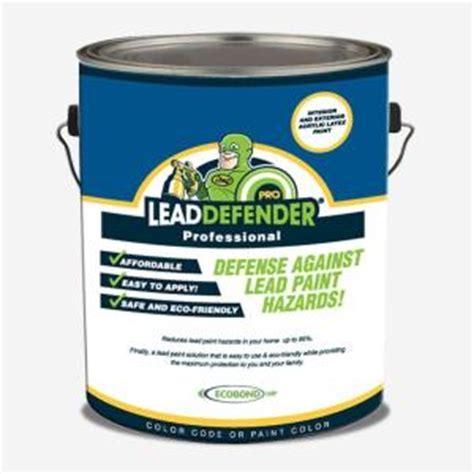 exterior paint sealant ecobond lbp 1 gal lead defender pro white flat