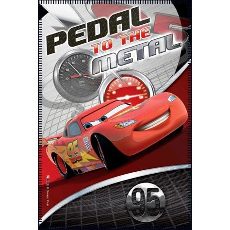 pedal to the metal disney pixar cars disney bilar fleecefilt quot pedal to the metal quot litenleker se