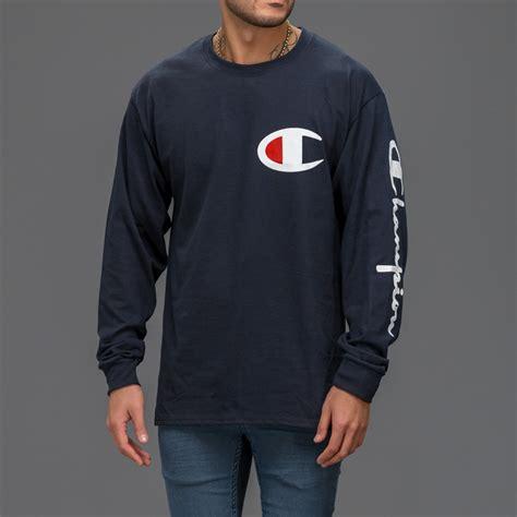 Sleeve Shirt Navy Blue navy blue chion sleeve t shirt wehustle