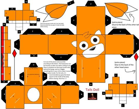 How To Make Papercraft Dolls - tails doll papercraft by coralcalypso on deviantart