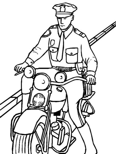 free policeofficer coloring pages