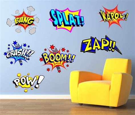 comic wall stickers cool comic pop wall sticker decal graphic decal bedroom sg48 ebay