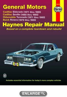 electric and cars manual 1992 cadillac eldorado free book repair manuals cadillac eldorado seville olds toronado buick riviera haynes repair manual 1971 1985