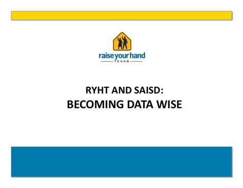 becoming quot data wise quot to drive high achievement and success