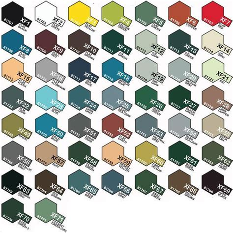 tamiya color chart tamiya color acrylic paint flat matt crafty arts