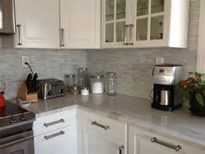 Kitchen Backsplash Stick On by Hometalk Peel And Stick Backsplash Mosaic Metallic