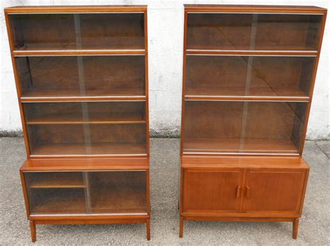 Glass Fronted Bookcases Uk pair mahogany glass fronted bookcases by minty sold