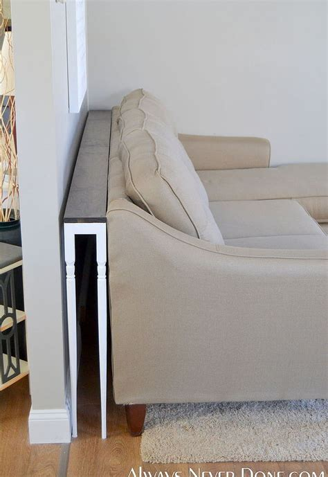 make a sofa table diy thin sofa table hometalk