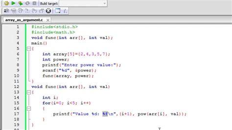 tutorial c array c programming tutorial 55 passing arrays to functions