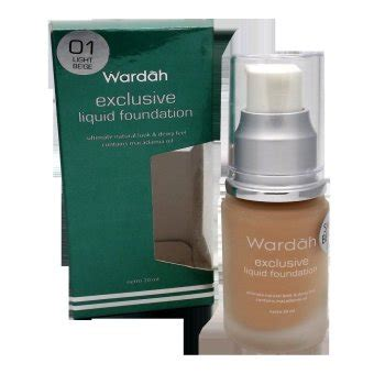 Harga Wardah Exclusive Liquid Foundation 03 wardah exclusive liquid foundation lazada indonesia