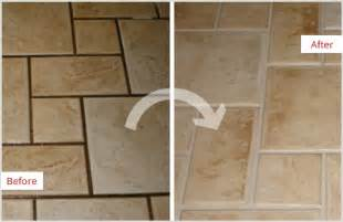 How To Clean Grout On Kitchen Floor - residential grout recoloring and sealing sir grout