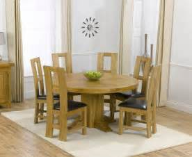 dining room table for 6 zenia oak 150cm round dining table 6 girona chairs