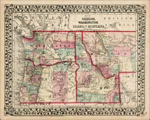 map of oregon and idaho map of oregon washington idaho and part of montana