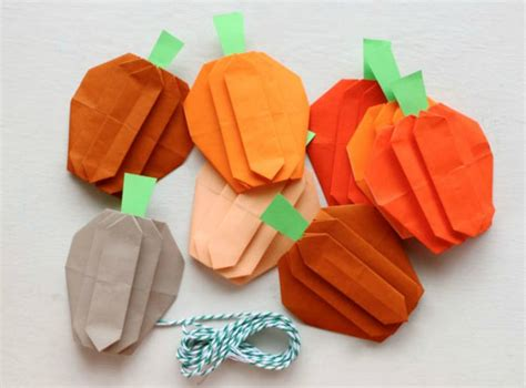 Origami Pumpkins - origami for easy peasy and