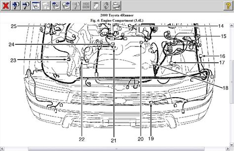 2000 toyota 4runner engine diagram engine automotive
