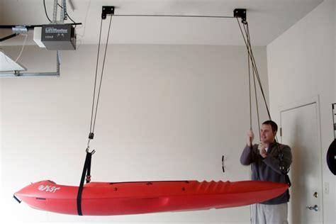 Kayak Ceiling Hoist by Kayak And Canoe Hoist Ceiling Rack Storeyourboard