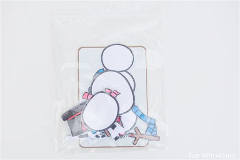 snowman dress up busy bag fun with mama snowman dress up busy bag fun with mama
