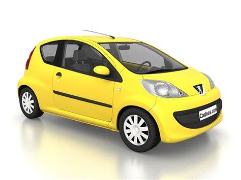 peugeot mini car peugeot 107 city car 3d model 3ds max files free