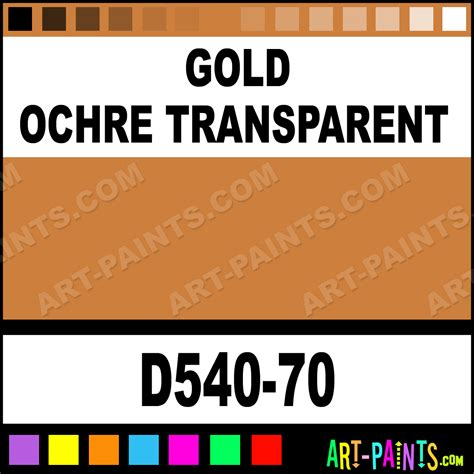 gold ochre transparent artists acrylic paints d540 70 gold ochre transparent paint gold