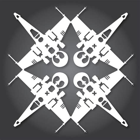 x wing templates how to make wars snowflakes with paper scissors and