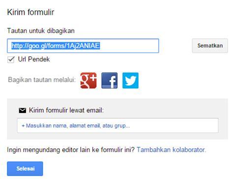 cara membuat kuesioner google form cara membuat formulir pendaftaran online via google form