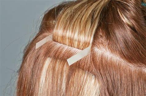 hair extension application apply hair extension hair weave