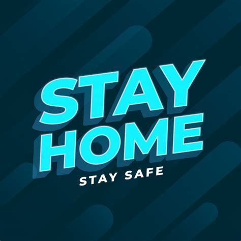 stay home stay safe  text background  vector