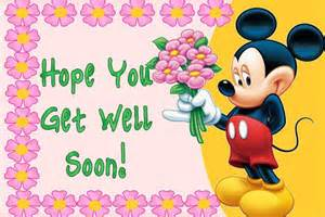 Hope your get well soon disney hold flower graphic imagefully com