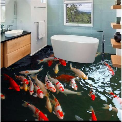 modern floor  carp hd murals  adhesive waterproof