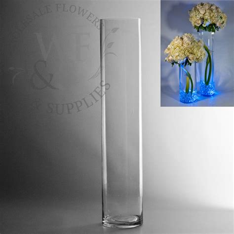 Cylinder Flower Vases by 20 Quot X 4 Quot Glass Cylinder Vase Wholesale Flowers And Supplies