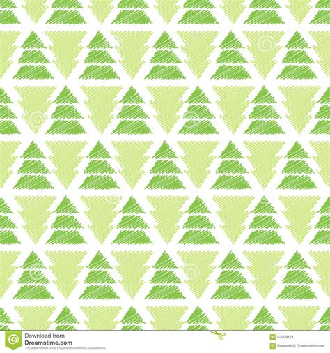 abstract tree pattern abstract christmas tree seamless pattern stock vector