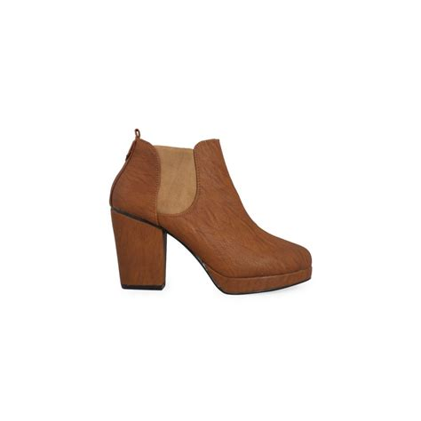 isabelle chelsea heel ankle boots parisia fashion