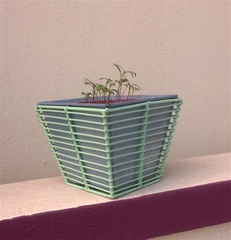 Decorative Metal Planters by Tapered Designer Metal Planter Greenmylife Anyone Can